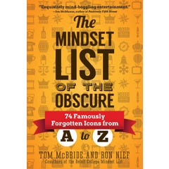 The Mindset List of the Obscure