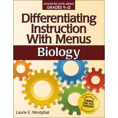 Differentiating Instruction with Menus: Biology