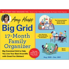 2021 Amy Knapp's Big Grid Family Organizer Wall Calendar