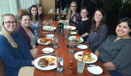 Intern welcome lunch